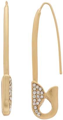 Vera Wang Simply Vera Safety Pin Threader Earrings