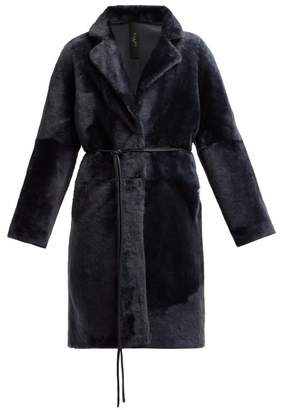 Giani Firenze - Andrea Reversible Shearling Coat - Womens - Blue