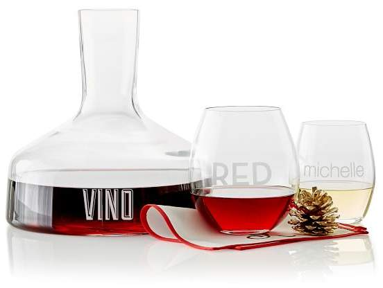 Open Top Glass Wine Carafe