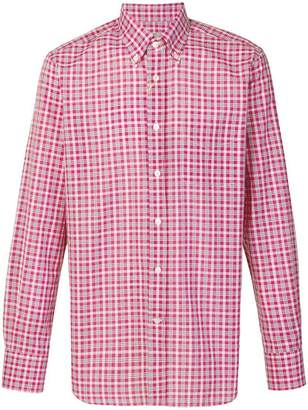 Canali checked button-down shirt