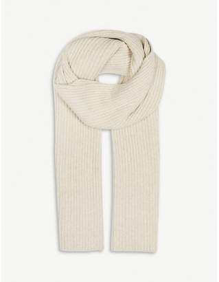 Pringle Ribbed cashmere-blend scarf