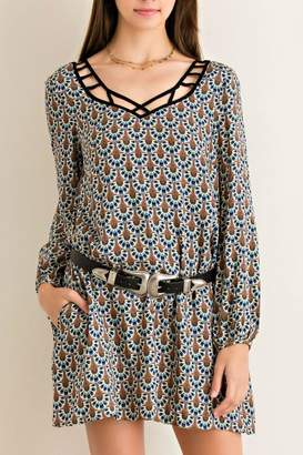 Entro Printed Shift Dress