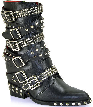 Jeffrey Campbell Draco - Studded Buckle Booties in Black