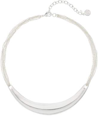 Dana Buchman Silver Tone Curved Bar Collar Necklace