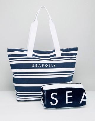 Seafolly Beach Bag and Towel Set $76 thestylecure.com