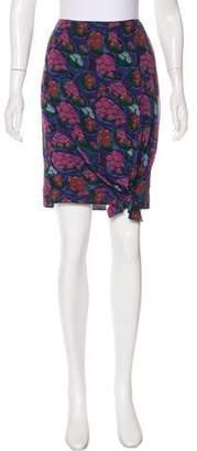 John Galliano Printed Silk Skirt