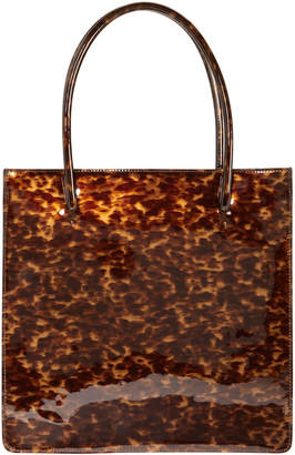Maryam Nassir Zadeh Anais Tortoise Patent Leather Tote