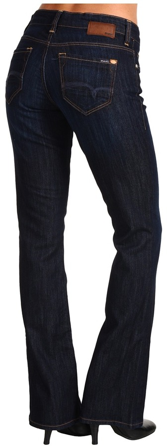 Mavi Jeans Molly Mid Rise Bootcut in Rinse Uptown (Rinse Uptown) - Apparel