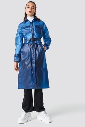 Olsen Astrid X Na Kd Rain Coat Blue