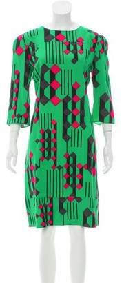 Marni Silk Geometric Dress