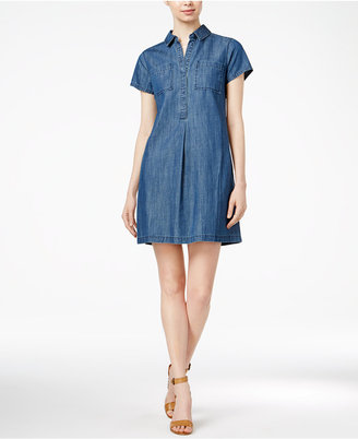 Maison Jules Denim Shift Dress, Only at Macy's $79.50 thestylecure.com