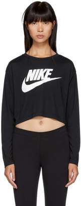 Nike Black Essential Crop Long Sleeve T-Shirt