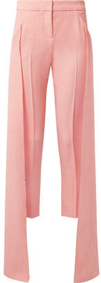 Hellessy Mojave Layered Canvas Tapered Pants - Baby pink