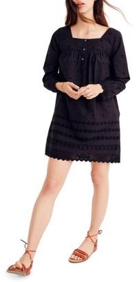 Women's Madewll Eyelet Trim Shift Dress $148 thestylecure.com