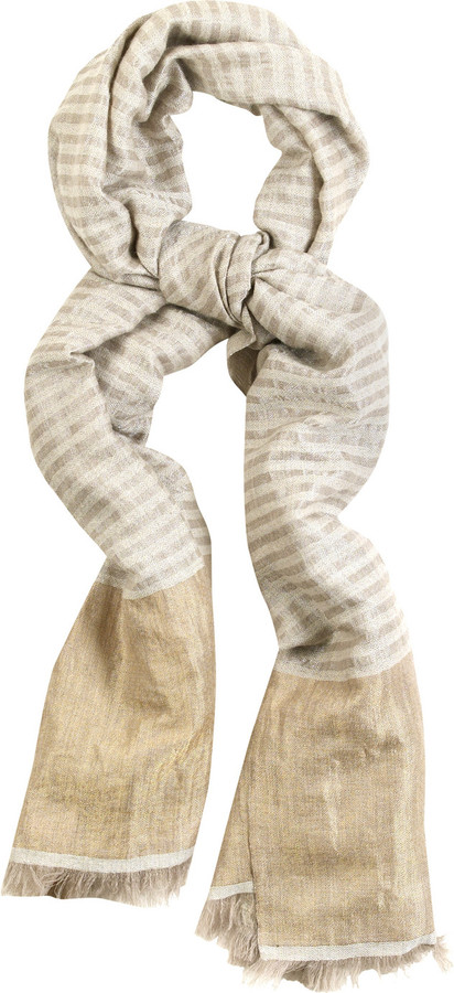 Tara Matthews Striped cashmere-blend scarf
