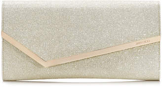 Jimmy Choo ERICA Platinum ice Dusty Glitter Clutch Bag