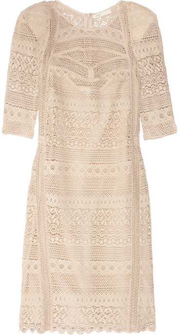 Maje Amant crocheted cotton mini dress