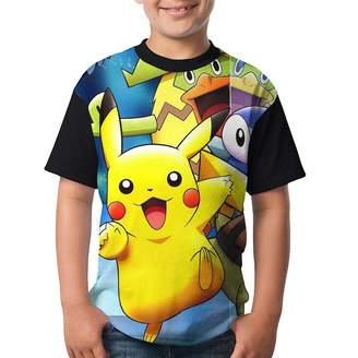Pokemon NICHOLE WEBERA Youth T-Shirt Circular Collar Summer Casual Boy T-shirt