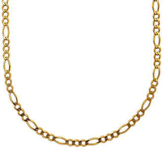 FINE JEWELRY Mens 18K Yellow Gold Over Silver 30 Figaro Chain Necklace