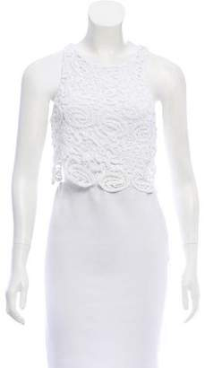 Miguelina Rosi Lace Cropped Top