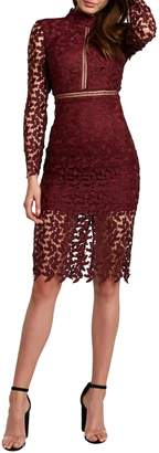 Bardot Alberta Lace Sheath Dress