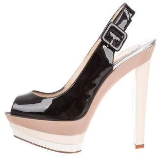 Christian Louboutin Peep-Toe Platform Sandals