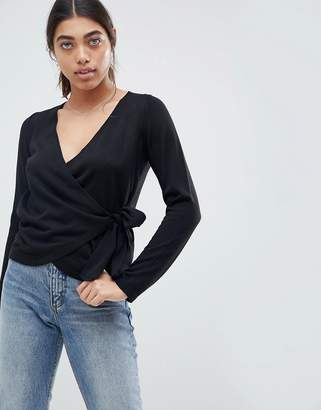 Asos DESIGN sweater with wrap and tie