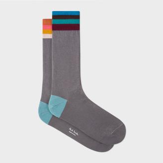 Men's Grey 'Artist Stripe' Cuff Odd Socks $30 thestylecure.com