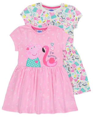 George Peppa Pig Unicorn Jersey Dresses 2 Pack
