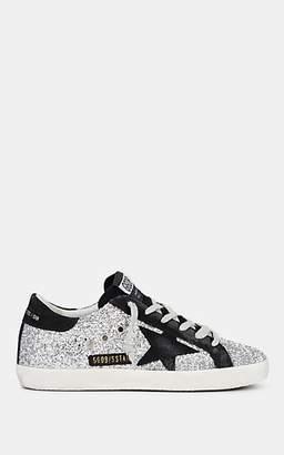 Golden Goose Women's Superstar Glitter & Suede Sneakers - Silver