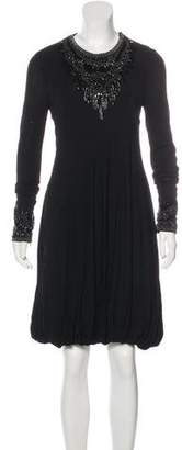 Alexander McQueen Embellished Long Sleeve Dress