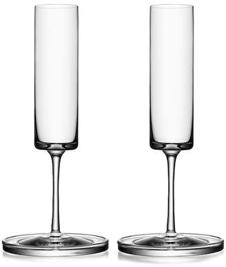 Orrefors Clear Karl Lagerfeld Champagne Flute - Set of 2
