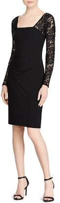 Ralph Lauren Lace-Sleeve Jersey Dress