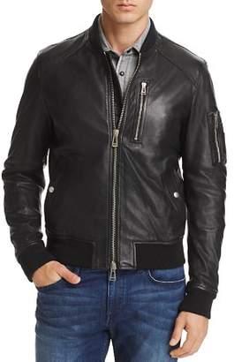 Belstaff Clenshaw Leather Bomber Jacket