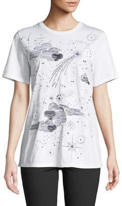 Escada Sport Clouds & Stars Crewneck Short-Sleeve Cotton Tee