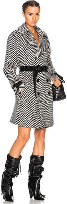 Saint Laurent Chevron Wrap Trench Coat
