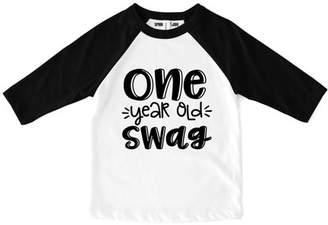 "Sprinkles And Jam ""Swag"" 1st Birthday Boy Shirt Raglan Birthday Outfit"