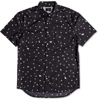 Quiksilver Men Cherry Pop Modern-Fit Floral-Print Poplin Shirt
