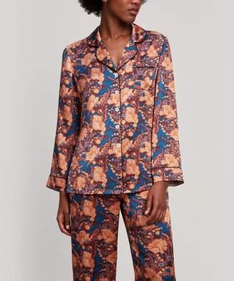 Liberty London Florence June Silk Satin Long Pyjama Set