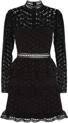 Self-Portrait Self Portrait Star Lace Long Sleeve Mini Dress