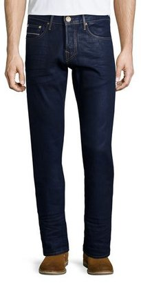 True Religion Geno Block Party Selvedge Jeans, Dark Blue $258 thestylecure.com