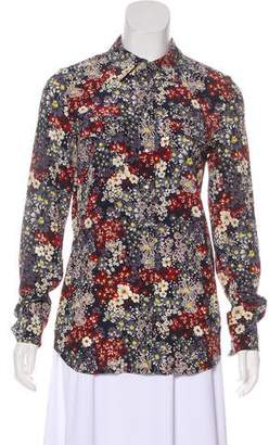 Adriano Goldschmied Silk Floral Top