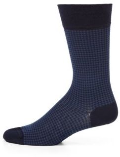 Marcoliani Houndstooth Cotton-Blend Socks $30 thestylecure.com