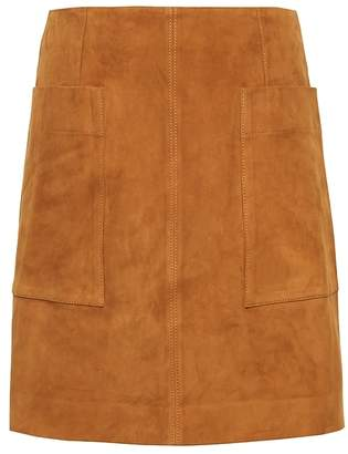 Banana Republic Petite Stretch-Suede Mini Skirt