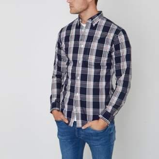 River Island Mens Blue Jack and Jones Premium check shirt