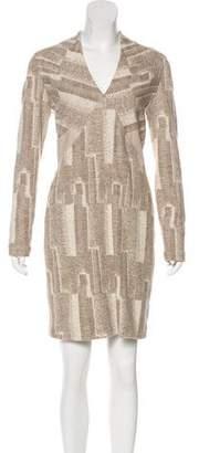 Yigal Azrouel Wool Patterned dress