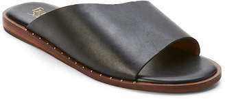 Franco Sarto Black Rye Leather Slide Sandals