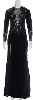 ZUHAIR MURAD Embellished Velvet Gown