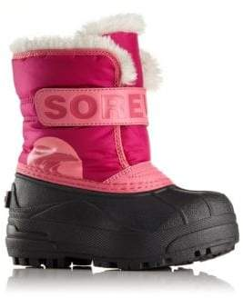Sorel Baby's, Toddler's& Girl's Snow Commander Faux Fur-Trim Snow Boots