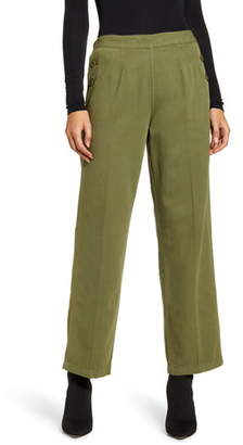 Current/Elliott The Cropped Military Camp Cotton & Linen Pants